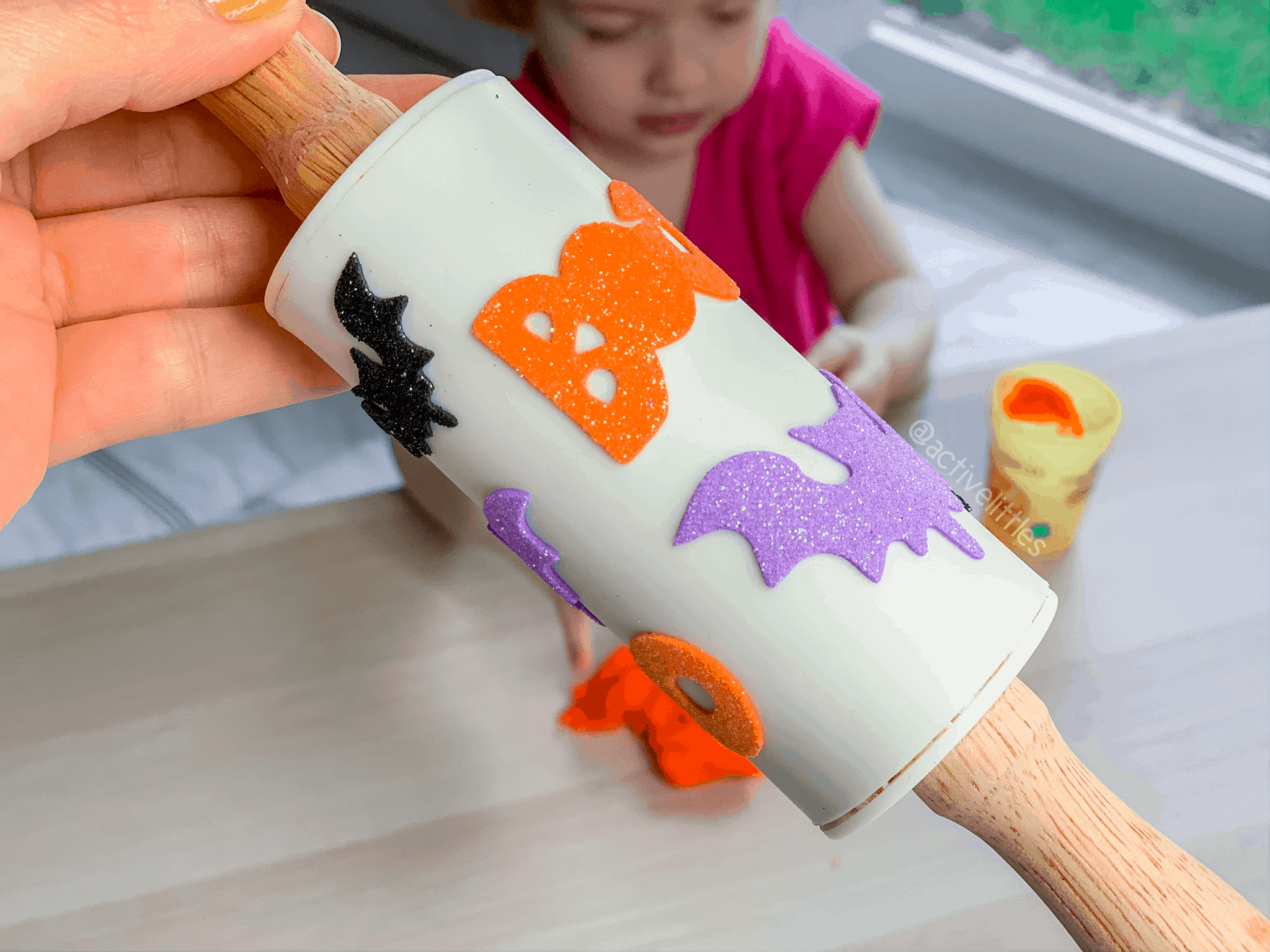 rolling pin foam sticker diy halloween