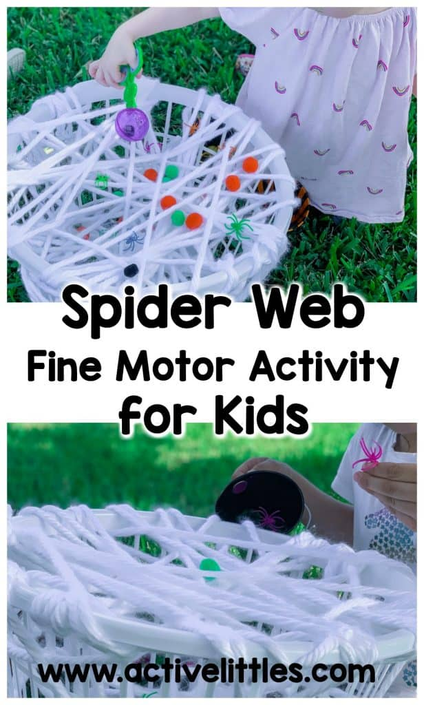 spider web fine motor activity for kids