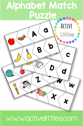 Alphabet Match Puzzle Printable for Kids