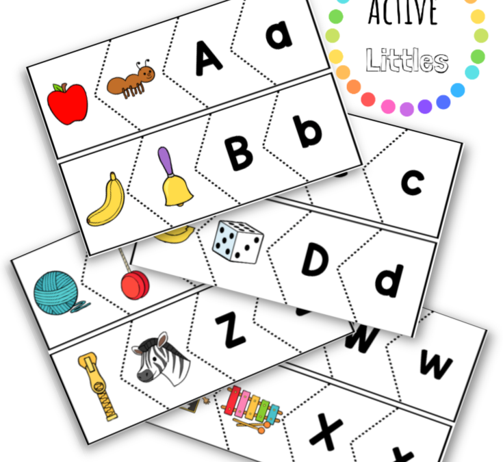 Alphabet Match Puzzle Printable for Kids