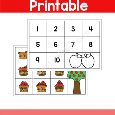 Apple Counting Mats Printable