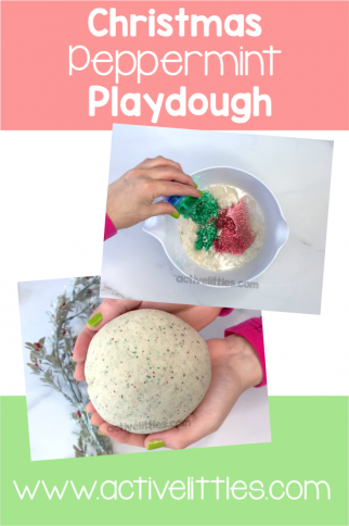 Christmas Peppermint Playdough DIY