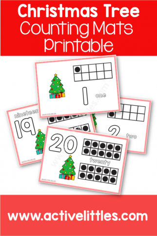 Christmas Tree Counting Mats Printable