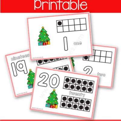 Christmas Tree Counting Placemats
