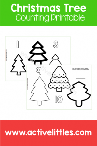 Christmas Counting Trees Printable