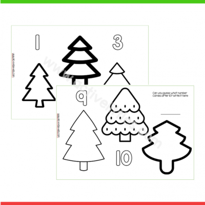 Christmas Tree Counting Printable