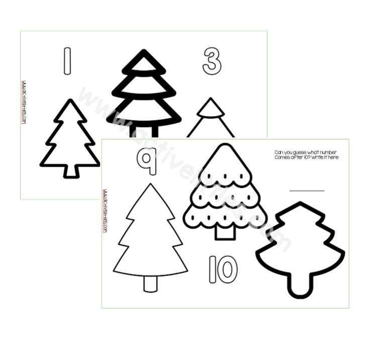 Christmas Counting Trees Printable