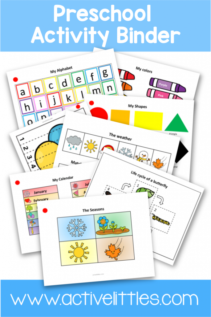Preschool Activity Binder Busy Book Printable - Active Littles