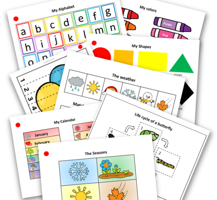 Preschool Activity Binder Busy Book Printable
