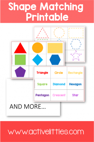 Shapes Activities for Preschool Learning Printable