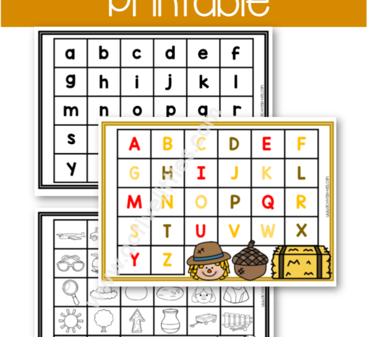 Thanksgiving Alphabet Match Printable