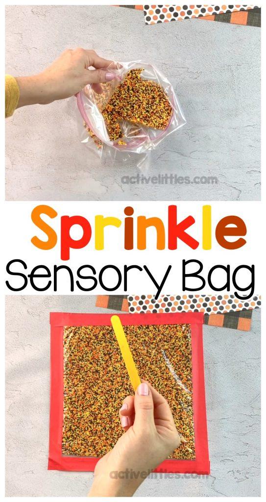 easy sprinkle sensory bag for kids