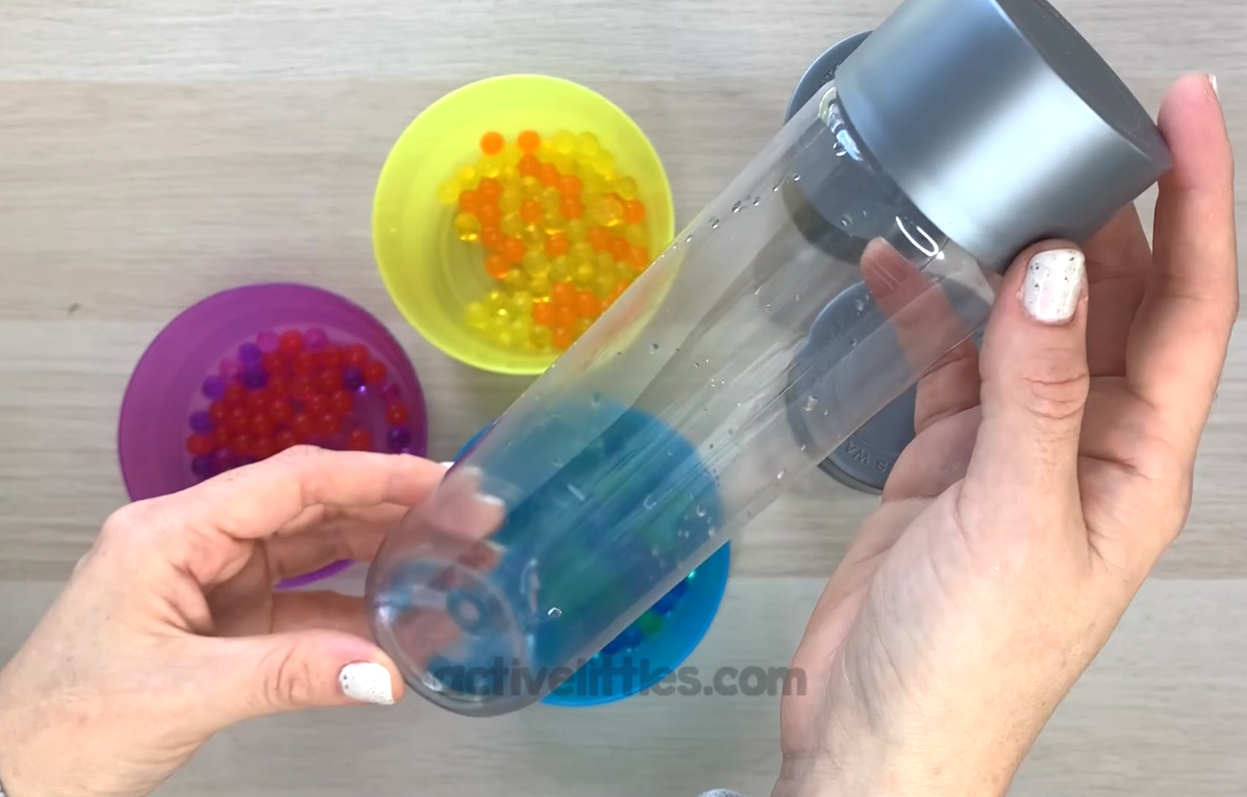 hair gel sensory bottle