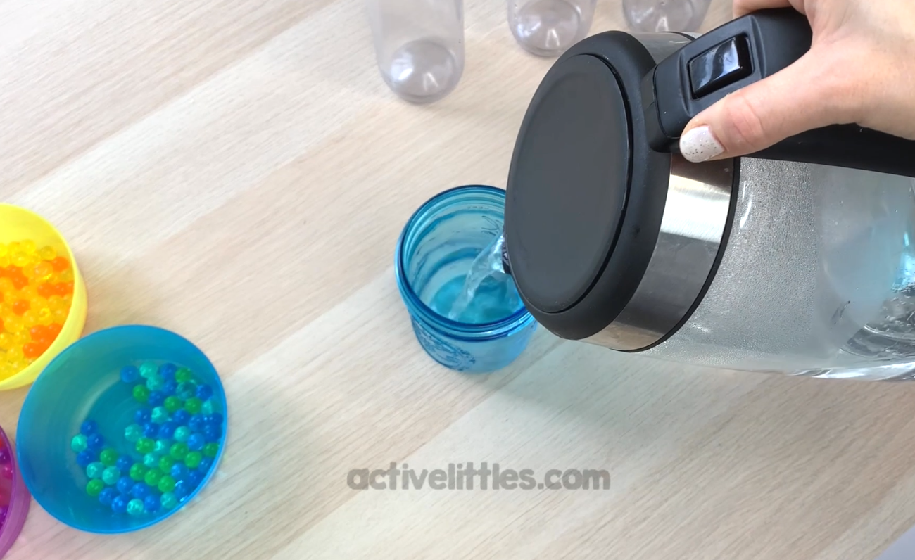 sensory bottle with hair gel