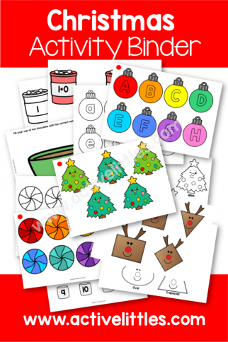 Christmas Busy Book Activity Binder Printable