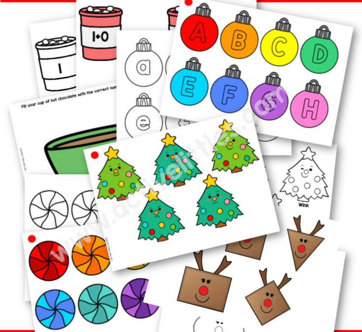 Christmas Busy Book Activity Binder Printable