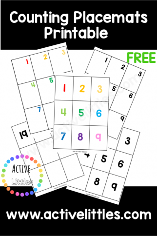 Counting Number Mats 1-20 Printable