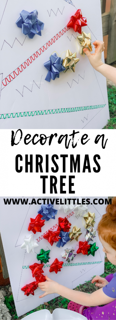 Decorate a christmas tree activity for kids
