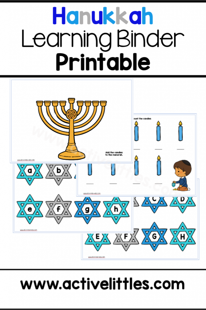 Hanukkah Learning Binder Printable