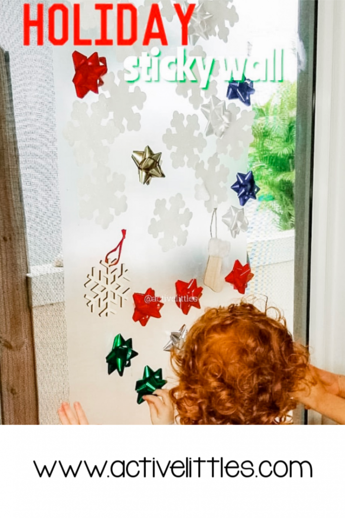 Holiday Sticky Wall for Kids