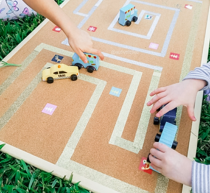 DIY Washi Tape Maze for Kids