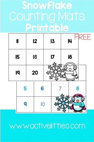 Snowflake Counting Mats Printable