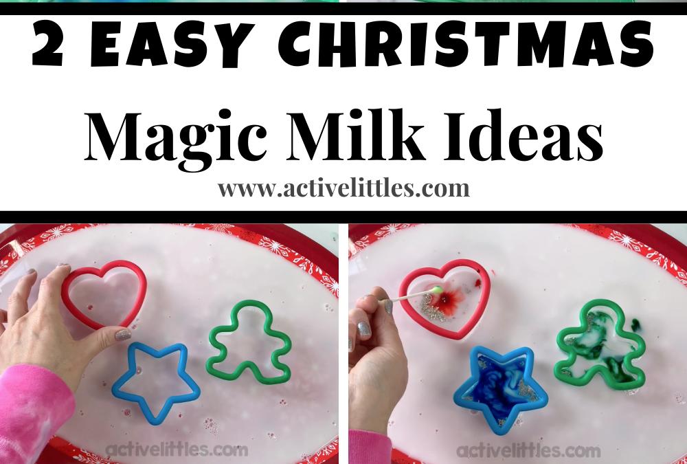 Christmas Magic Milk Experiment