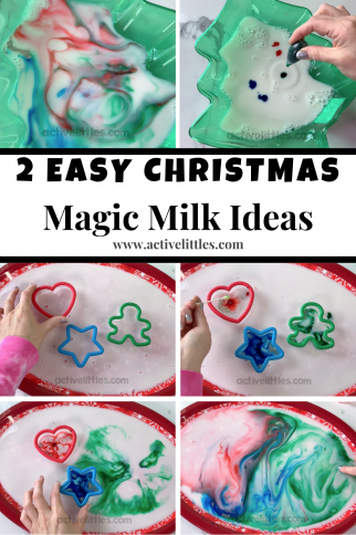 Christmas Magic Milk Experiment