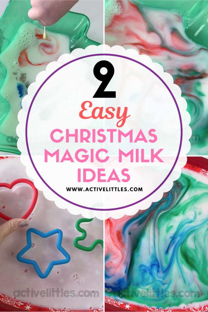 christmas magic milk for toddler preschool and kindergarten