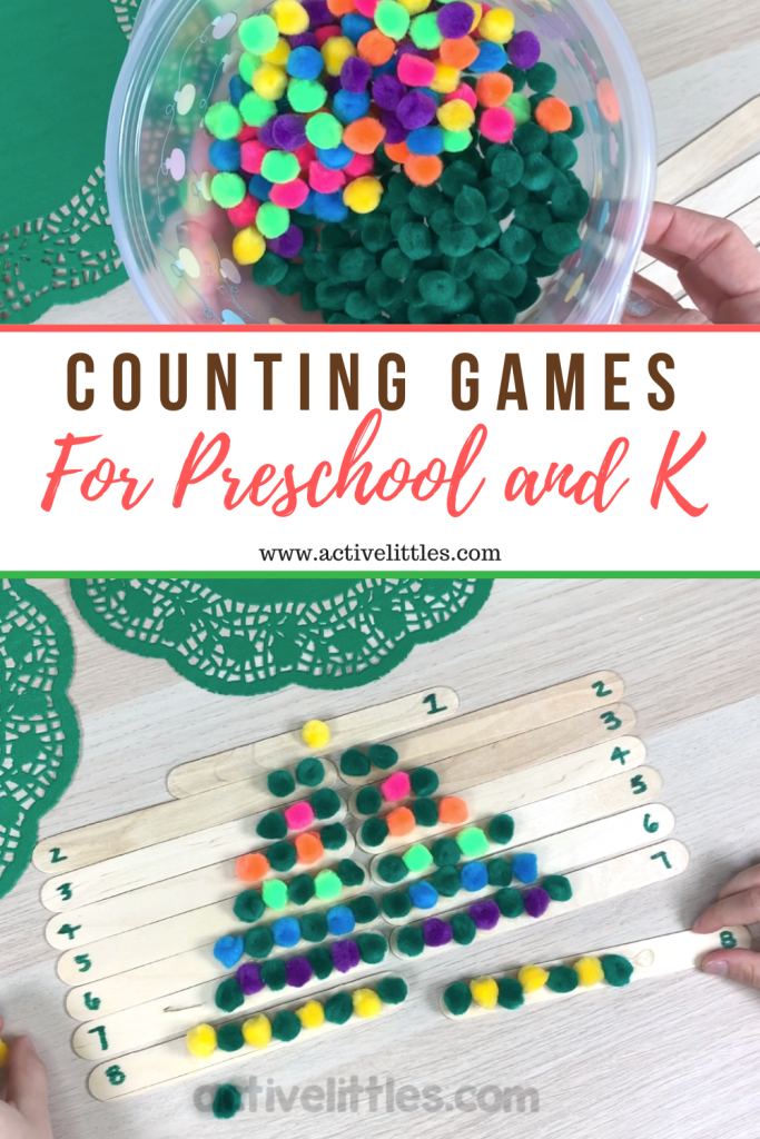 counting games for kids using craft sticks