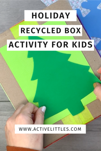 Holiday Recycled Box Activity for Kids