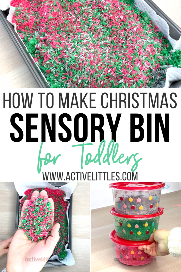 how to make sensory rice for toddlers