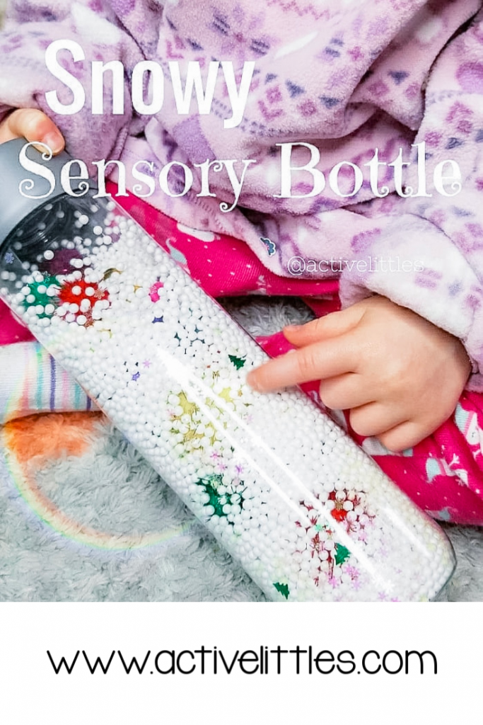 snow sensory bottle diy