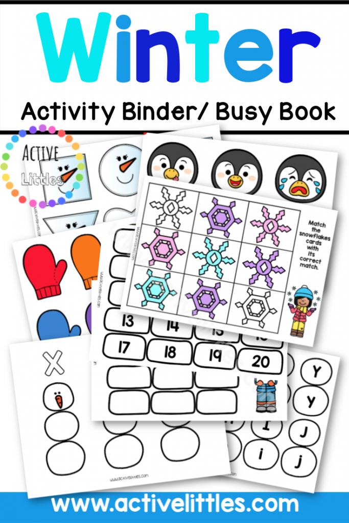 Winter Preschool Activity Binder - Active Littles copy 2