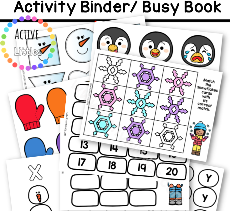 Winter Busy Book 'Activity Binder' for January