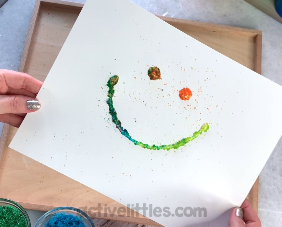 edible glitter activity for kids