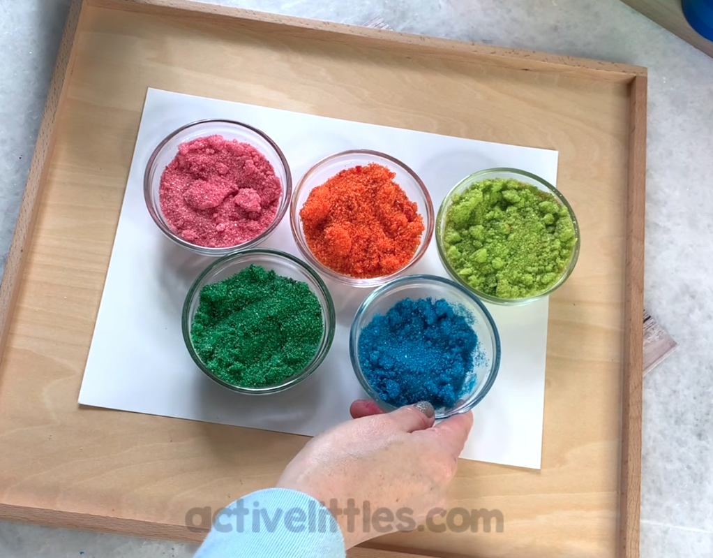edible glitter for preschool activity