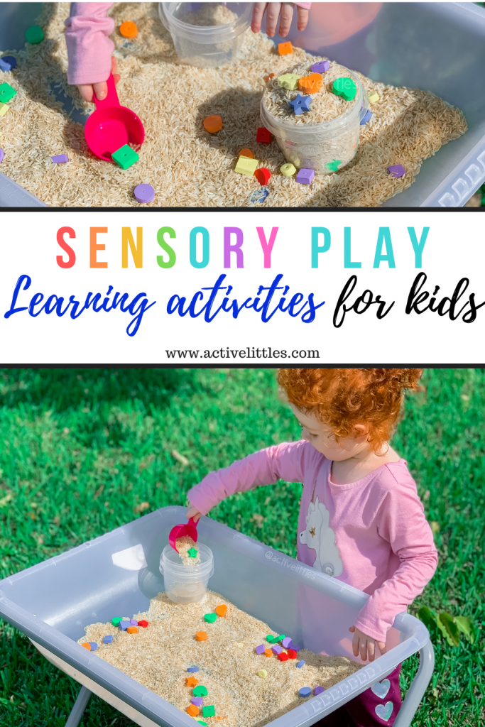 how to make a rice sensory bin
