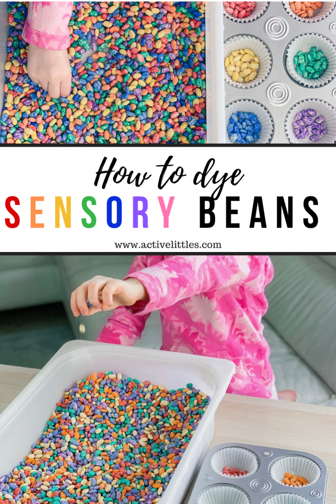 how to make beans for sensory play for kids