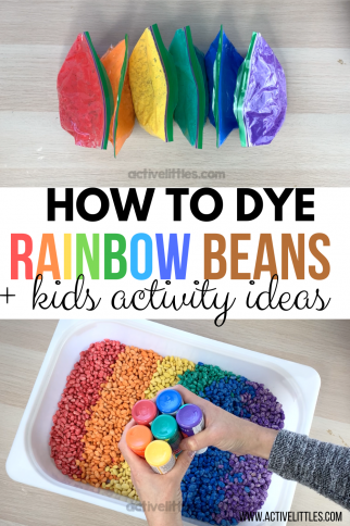 How to dye beans for sensory play