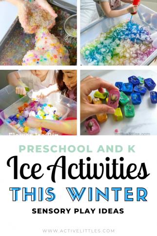 Preschool Ice Activities at Home