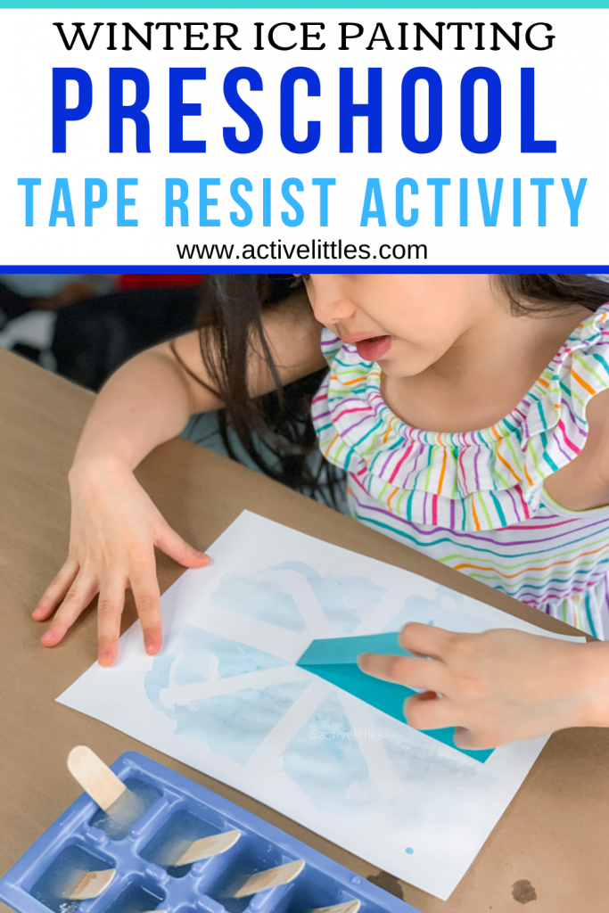 ice painting tape resist activity
