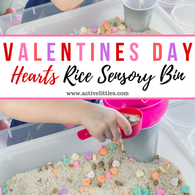 valentines day sensory bin for toddlers