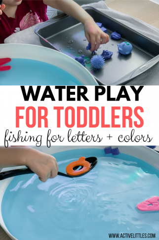 Water Play for Toddlers – Fishing for Colors and Letters