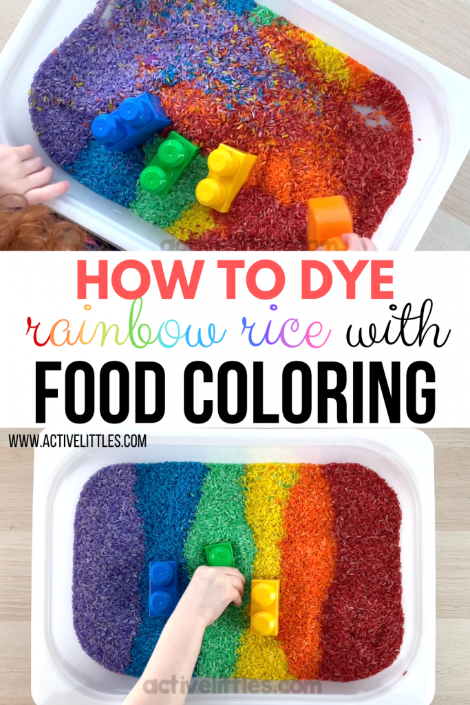 How to dye rainbow rice