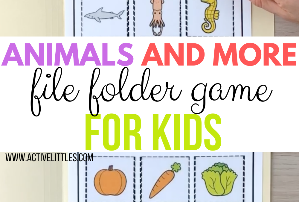 Animal File Folder Games and more for Kids – 126 words Printable