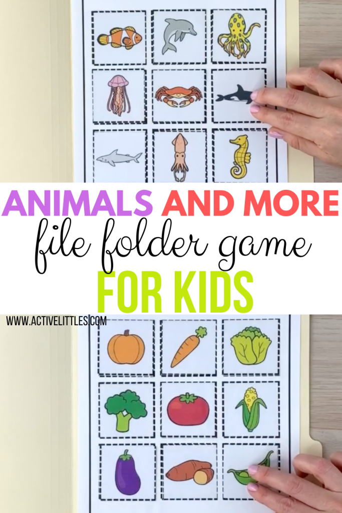 animals and more file folder games