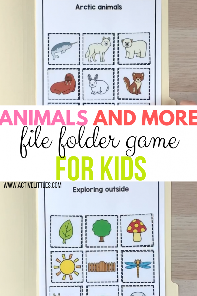 animals and more file folder games for kids
