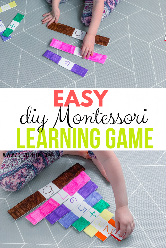 easy diy montessori learning game