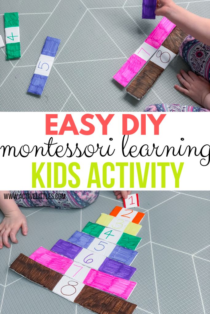 easy diy montessori learning puzzle for kids